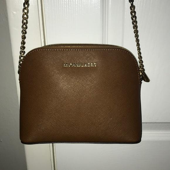 19d4e822d876 Michael Kors Bags | Lg Crossgrain Leather Dome Crossbody | Poshmark
